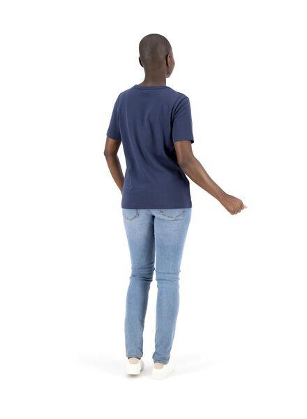 t-shirt femme bleu foncé bleu foncé - 1000014832 - HEMA