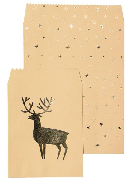 4er-Pack weihnachtliche Geschenktaschen - 25700037 - HEMA