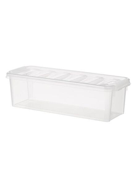 storage box 38x14x12 Madrid transparent 38 x 14 x 11 transparent - 39820001 - hema