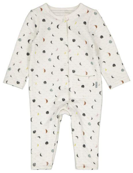 HEMA Newborn-Jumpsuit, Biobaumwolle, Mond Weiß