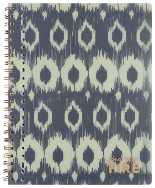 cahier à spirale 4-en-1 29.7x24 - grands carreaux (Seyès) - 14502190 - HEMA