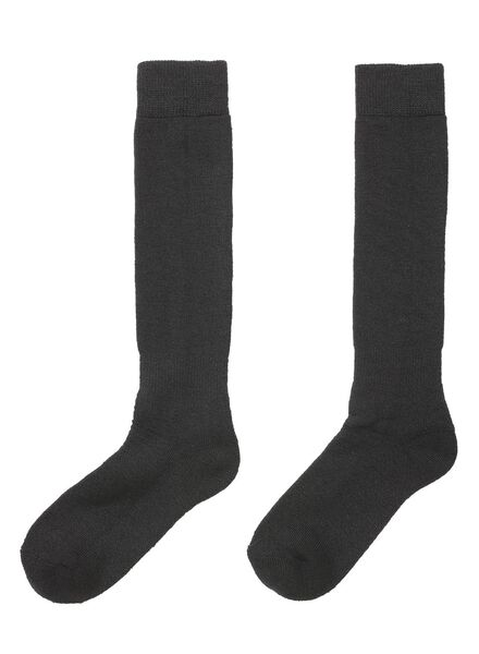 2-pack ski socks black black - 1000017242 - hema