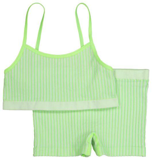 children's top and boxers - seamless bright green bright green - 1000019320 - hema