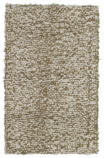 bath mat structure 50x70 sand/white - 5200157 - hema