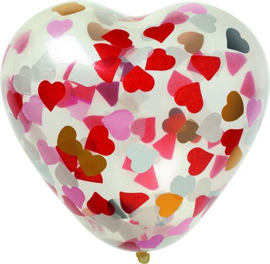 6 ballons à confettis coeur 30 cm - 14280138 - HEMA