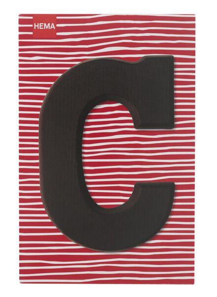 dark chocolate letter C - 10034002 - hema