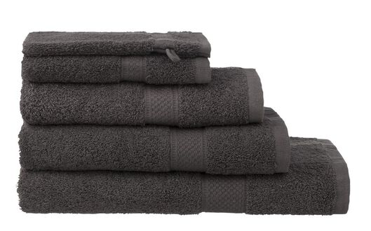 guest towel - 30 x 55 cm - heavy quality - dark grey dark grey guest towel - 5202602 - hema