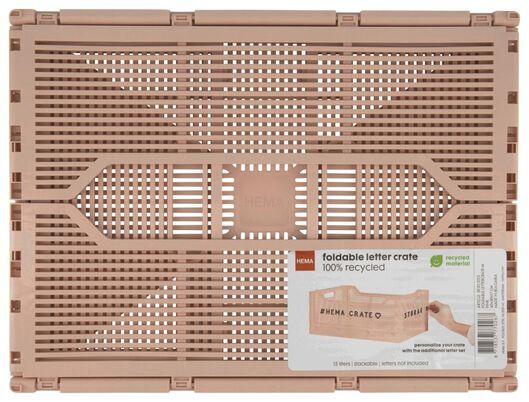 Buchstabentafel-Klappkiste, recycelt, 30 x 40 x 17 cm rosa rosa - 1000022847 - HEMA