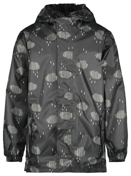 opvouwbare kinder regenjas wolk zwart 134/140 - 18481804 - HEMA