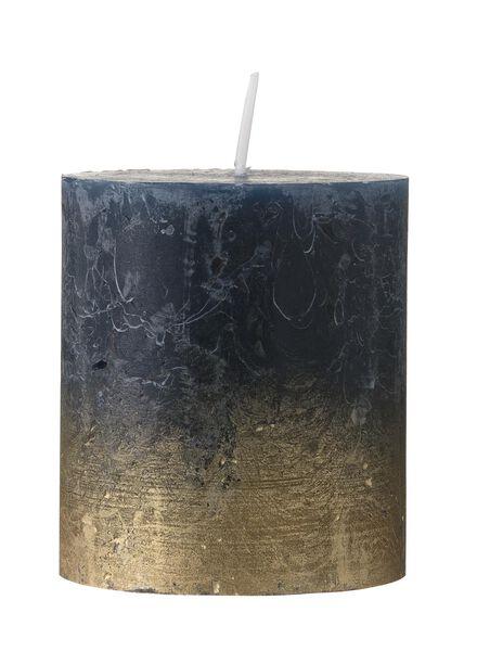 bougies rustiques bleu bleu - 1000017586 - HEMA