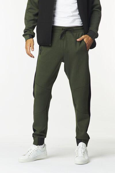 heren sweatbroek legergroen legergroen - 1000024884 - HEMA