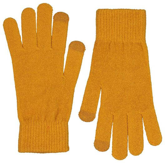 women's gloves touch screen yellow ochre S/M - 16460636 - hema