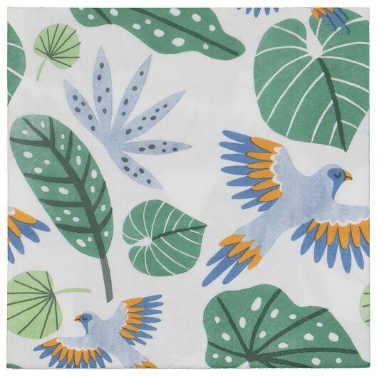 20 serviettes - 33 x 33 - paper - leaves - 14280120 - hema