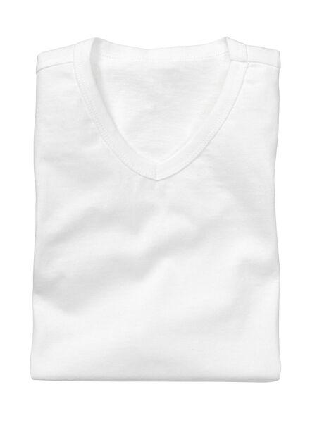 2-pack men's regular fit T-shirts white white - 1000005969 - hema