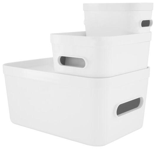 lid for storage box 19.5x29x2 Helsinki white - 39821154 - hema