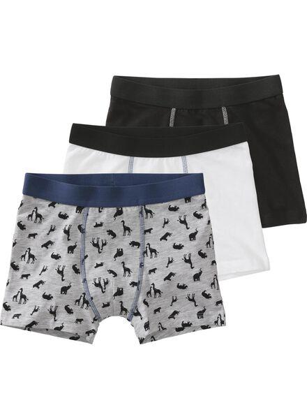 3-pack children's boxers grey melange - 1000006503 - hema