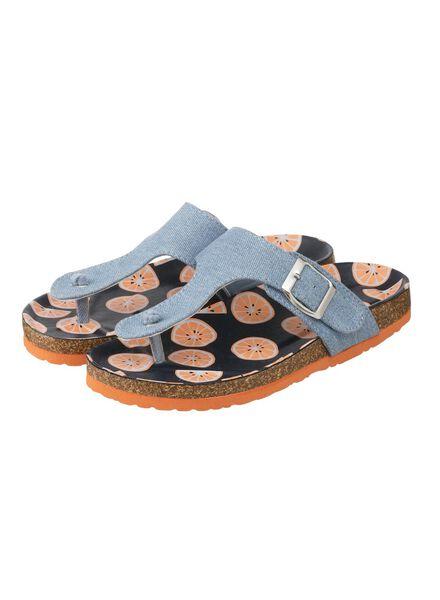 Kinder-Zehensandalen jeansfarben jeansfarben - 1000012231 - HEMA