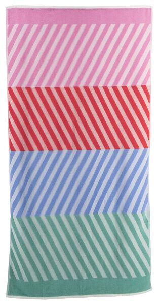 serviette de plage coton 90x180 rayure - 5290049 - HEMA