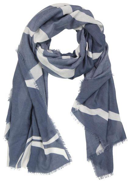 écharpe femme 200x80 zèbre bleu - 1780039 - HEMA