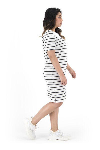 women's dress white/black white/black - 1000019289 - hema