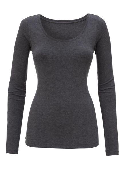 t-shirt femme gris foncé gris foncé - 1000005153 - HEMA