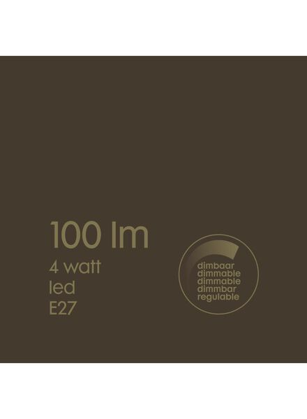 LED-Lampe, 4W, 100Lumen, Birne, Titan - 20020068 - HEMA