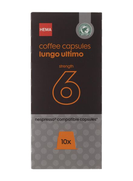 Image of HEMA 10-pack Coffee Capsules Lungo Ultimo