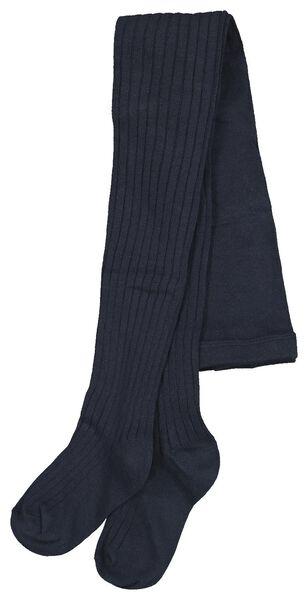 children's leggings ribbed dark blue dark blue - 1000020486 - hema