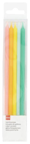 10 bougies d'anniversaire 13.5 cm - arc-en-ciel - 14210143 - HEMA