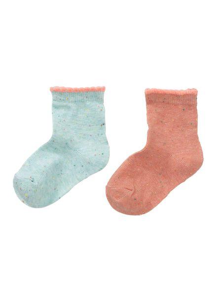 2-pack baby socks pink pink - 1000006450 - hema