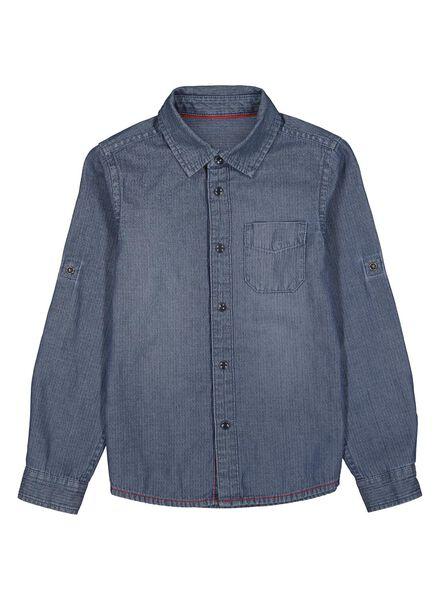 chemise enfant bleu bleu - 1000013766 - HEMA