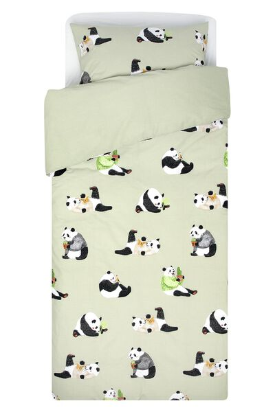 children's duvet cover - soft cotton - 140x200 - panda - 5720145 - hema