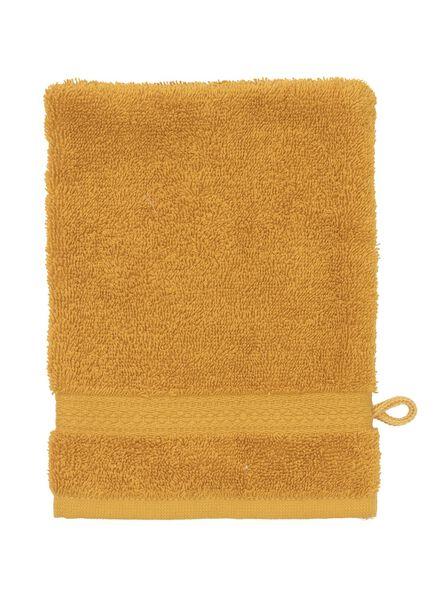 gant de toilette - qualité épaisse - ocre uni ocre gant de toilette - 5220024 - HEMA