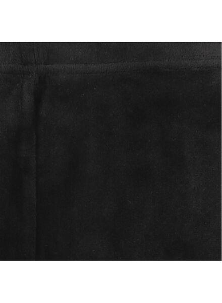 dameslegging velours zwart zwart - 1000016982 - HEMA