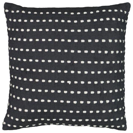 coussin rembourré 50x50 gris/blanc - 7322028 - HEMA