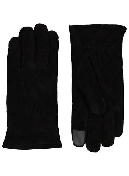gants homme daim noir noir - 1000015329 - HEMA