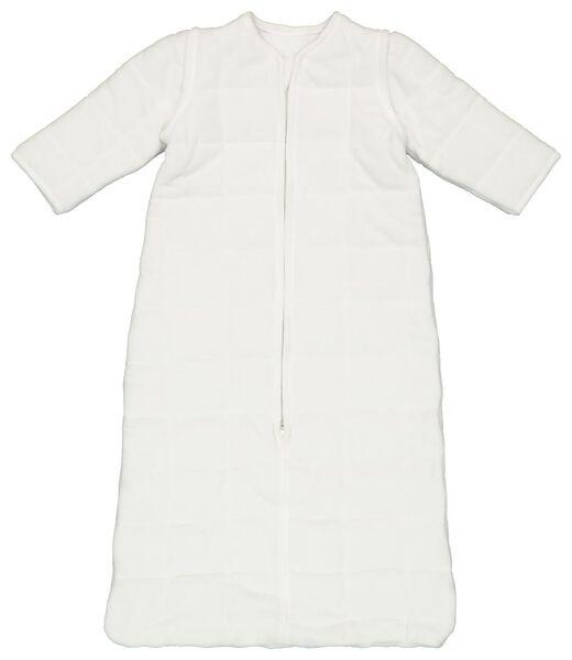 Baby-Schlafsack mit abnehmbaren Ärmeln, gepolstert, weiß eierschalenfarben eierschalenfarben - 1000019996 - HEMA