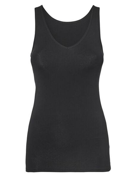 débardeur femme - real lasting cotton noir noir - 1000012827 - HEMA
