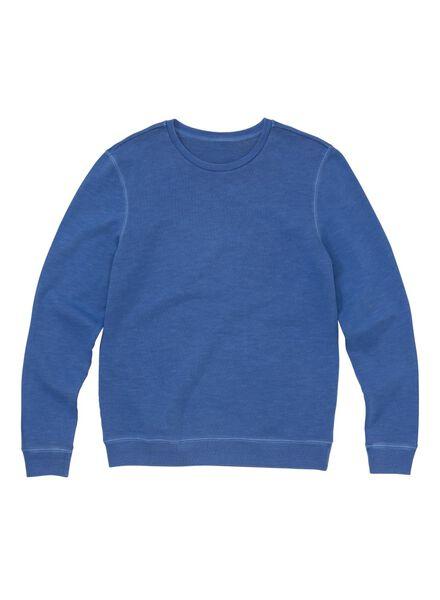 men's sweatshirt blue blue - 1000006019 - hema