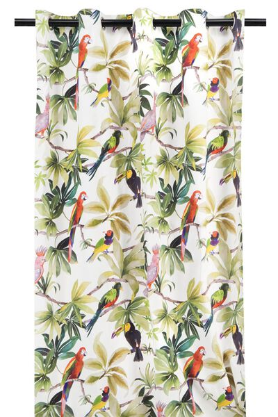 curtain ready-made with rings 270x140 parrot - 7632135 - hema
