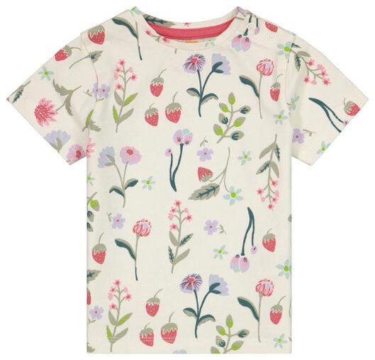 Baby-T-Shirt, Blumen eierschalenfarben 80 - 33019544 - HEMA