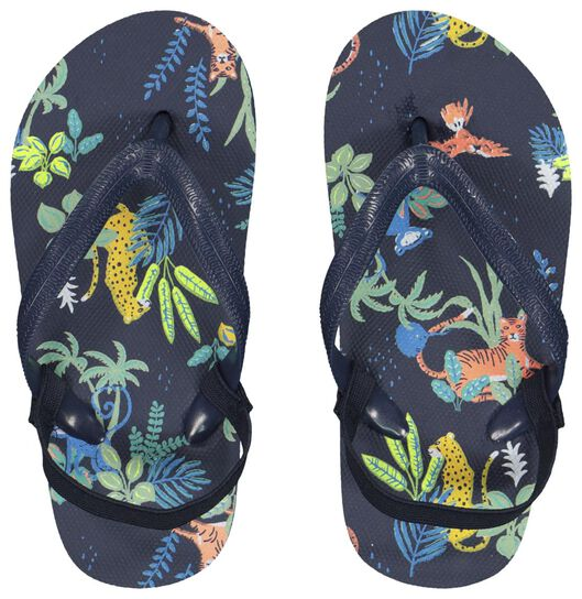 children's flip-flops jungle dark blue dark blue - 1000023101 - hema