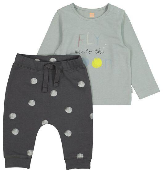 HEMA Newborn-Set, Shirt Mit Hose, Biobaumwolle Weiß