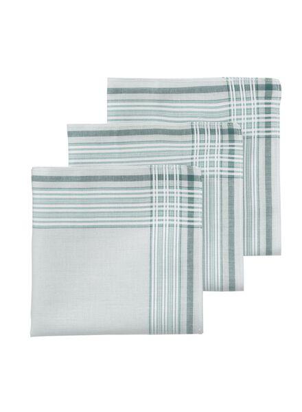 lot de 3 mouchoirs 30 x 30 cm - 1400016 - HEMA