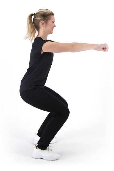 women's sports shirt black M - 36030702 - hema