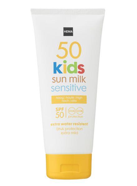 lait solaire sensitive enfant SPF 50 - 11610160 - HEMA