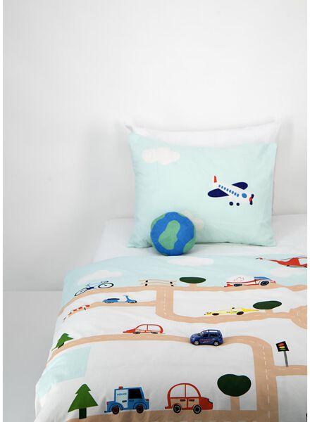 toddlers' duvet cover - 120x150 - traffic game blue - 5740016 - hema