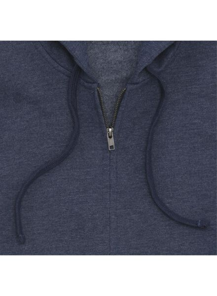 men's sweatshirt cardigan dark blue dark blue - 1000006087 - hema