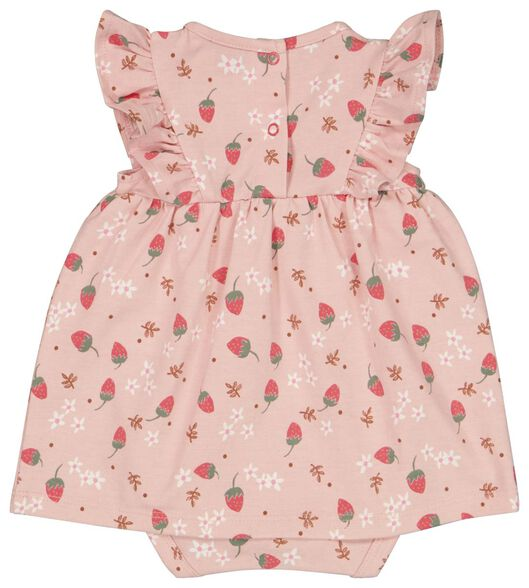 Newborn-Bodykleid, elastische Biobaumwolle rosa rosa - 1000023562 - HEMA