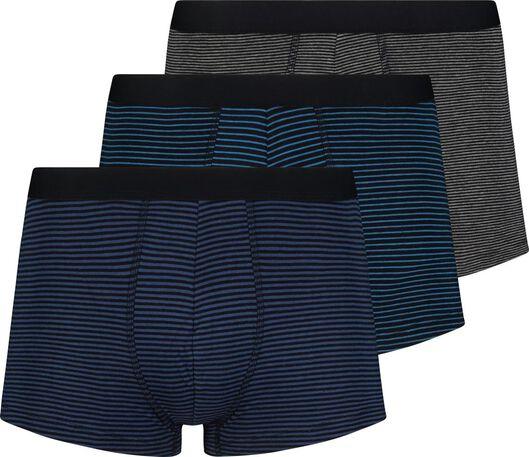 HEMA 3er-Pack Herren-Boxershorts, Kurz, Elastische Baumwolle Blau
